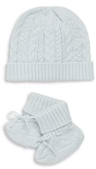 Ralph Lauren Baby's Two-Piece Hat& Booties Set