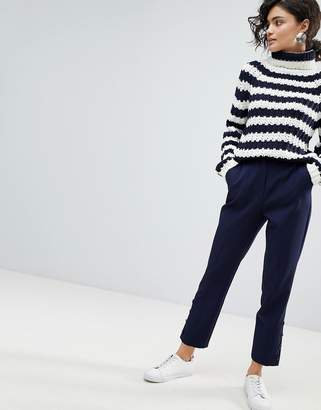 Asos Design Cigarette Pants with Button Ankle Detail