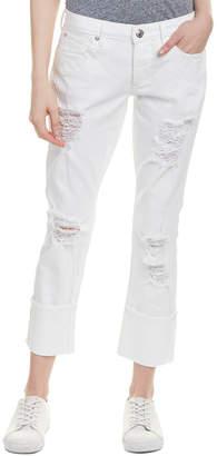 True Religion Liv Bright White Low-Rise Relaxed Skinny Leg