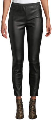 Bagatelle High-Rise Faux-Leather Ponte-Back Leggings