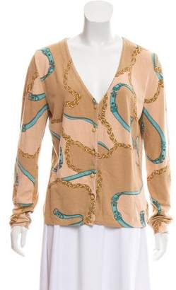 Blumarine Printed Button-Up Cardigan