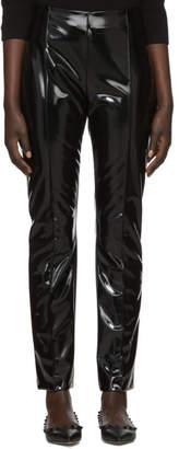 Valentino Black Vinyl Skinny Trousers