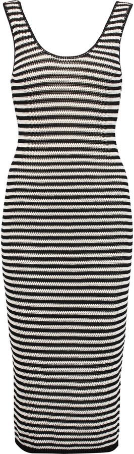 Alice + OliviaAlice + Olivia Alice + Olivia Janel striped crochet-knit midi dress
