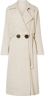 Casco Oversized Matelassé Trench Coat - Cream