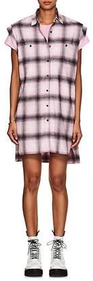 ADAPTATION Women's Plaid Cotton Flannel Sleeveless Shirtdress