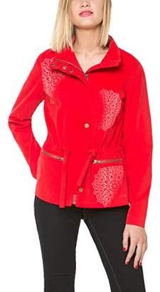 Desigual Women's LODY Coat, Red-Rot (Fiesta 38)