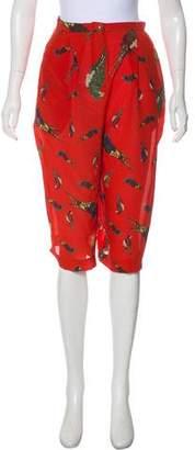 Kenzo Silk Printed Wide-Leg Pants w/ Tags