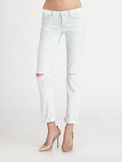 J Brand 8112 Mid-Rise Rail Straight-Leg Jeans