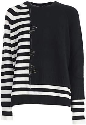 Haider Ackermann Embroidered Striped Sweater