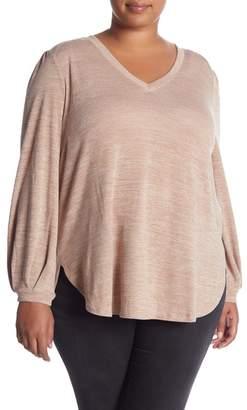 Melissa McCarthy Shield V-Neck Top (Plus Size)