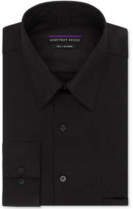 Geoffrey Beene Men's Sateen Tall Fit Solid Point Collar Dress Shirt