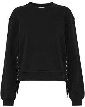 McQ Lace-Up Cotton-Jersey Sweatshirt