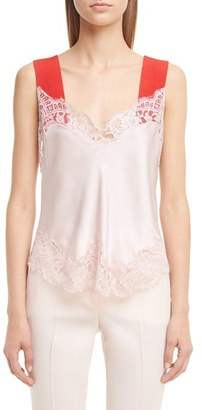 Women's Givenchy Contrast & Lace Trim Camisole $1,495 thestylecure.com
