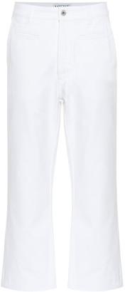 Loewe Cropped high-rise wide-leg jeans