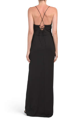 Adrianna Papell Spaghetti Strap Maxi Dress