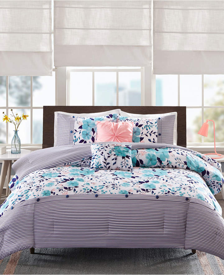 Intelligent Design Delle 4-Pc. Twin/Twin Xl Comforter Set Bedding