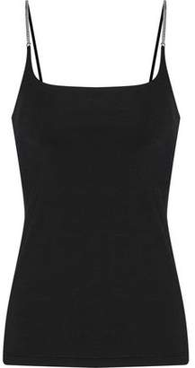 Alexander Wang Chain-Trimmed Stretch-Knit Camisole