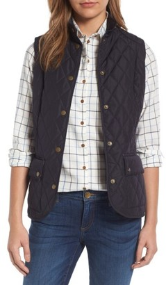Women's Barbour Saddleworth Quilted Vest $149 thestylecure.com