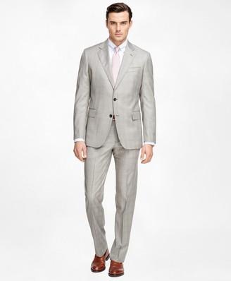 Brooks Brothers Regent Fit Saxxon Wool Brown Plaid 1818 Suit