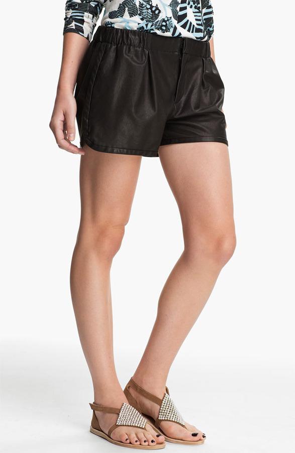 Thakoon Leather Shorts