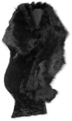 Karl Donoghue Shearling Scarf - Black