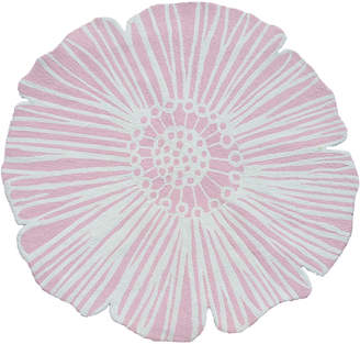 The Rug Market Round Flower Hand-Made Polyester Contemporary Rug