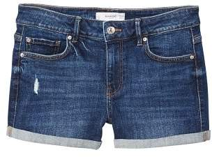 MANGO Medium wash denim shorts