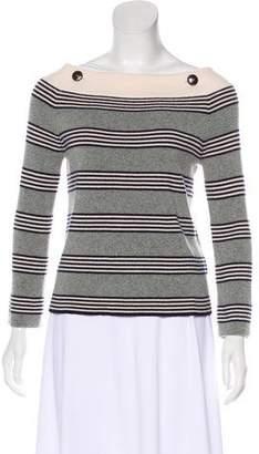 Chanel Stripe Cashmere Sweater