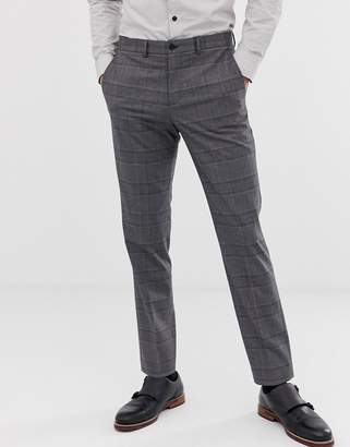 slim wedding suit trouser in check