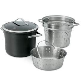 Calphalon Four-Piece Contemporary Nonstick Pasta Pot