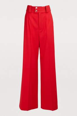 Proenza Schouler Wool wide leg pants