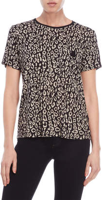 The Kooples Leopard Print Light Jersey Tee
