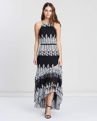 Cooper St Mimosa High Neck Embroidered Dress