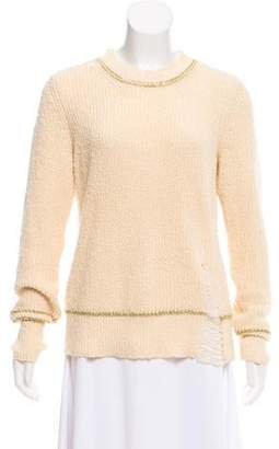 Raquel Allegra Long Sleeve Distressed Sweater