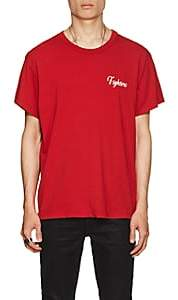 """Amiri Men's """"Fighters"""" Cotton T-Shirt - Red"""