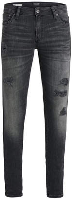Jack and Jones Men's Slim-Fit Stretch Ripped Jeans