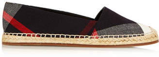 Burberry Checked Canvas Espadrilles - Navy