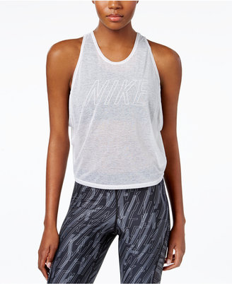 Nike Dri-FIT Breathe 2 in 1 Cropped Training Tank Top and Pro Mid-Impact Sports Bra $60 thestylecure.com