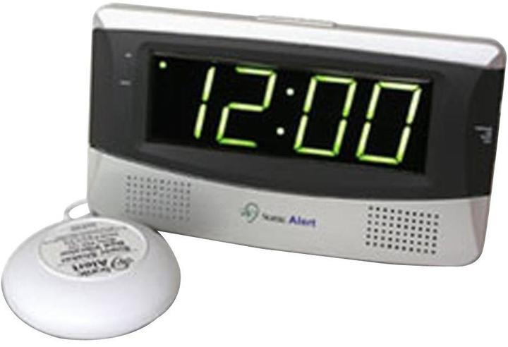 Sonic Alert Sonic Boom Digital Alarm Clock - White