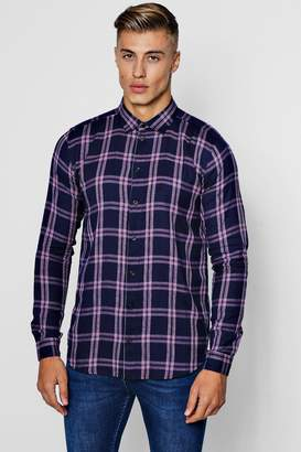 boohoo Long Sleeve Flannel Check Shirt