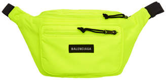 Balenciaga Yellow Nylon Explorer Belt Pouch