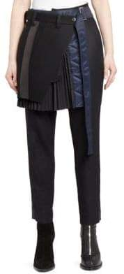 Sacai Skirt& Wool Pants Combo