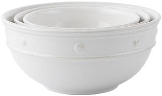Juliska Set of 3 Nesting Serving Bowls - White