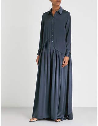 Osman Evaline satin shirt dress