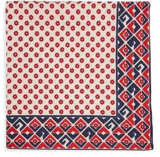 Gucci Floral Print Silk Pocket Square - Mens - Ivory