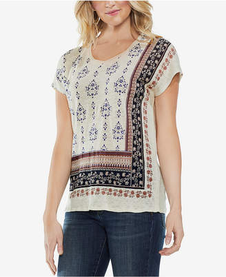 Vince Camuto Printed Linen T-Shirt