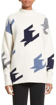 Victoria Beckham Houndstooth Cashmere Sweater