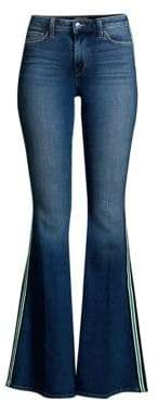 L'Agence Solana High-Rise Side Stripe Flared Jeans