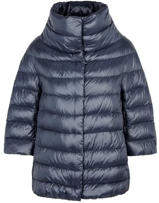 Herno Dark Blue Quilted Shell Jacket