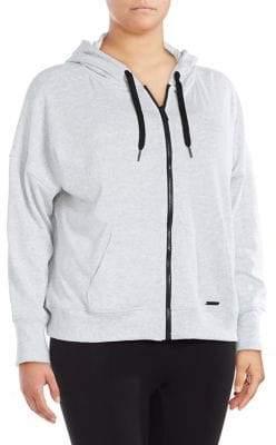 Calvin Klein Plus Mesh-Panel Zip Hoodie